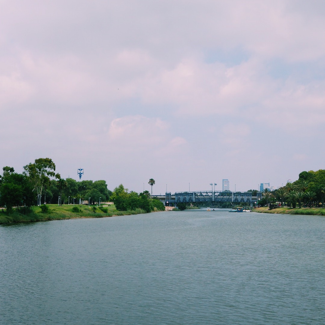 Yarkon river in Tel Aviv
