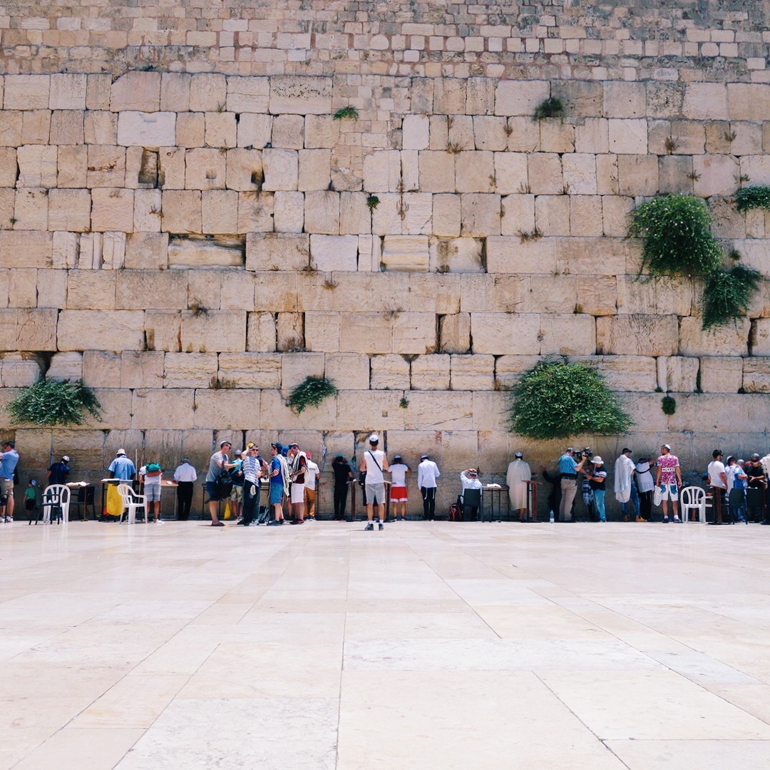 People praying at the Westen Wall in Jerusalem