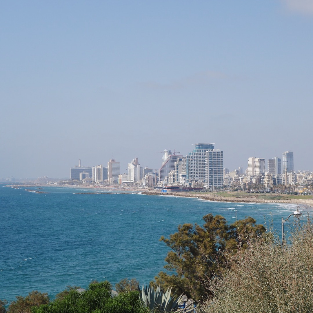 View of Tel Aviv's coast line