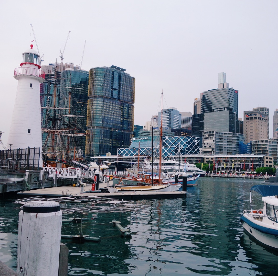 View over Pyrmont Bay Wharf