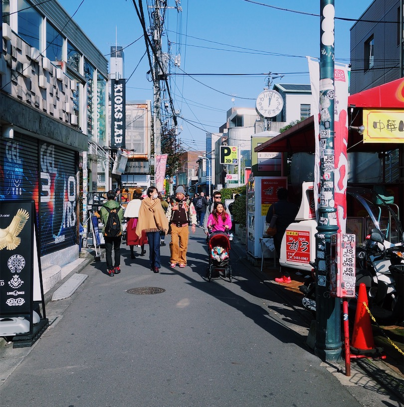 People strolling the streets of Ura-Harajuku