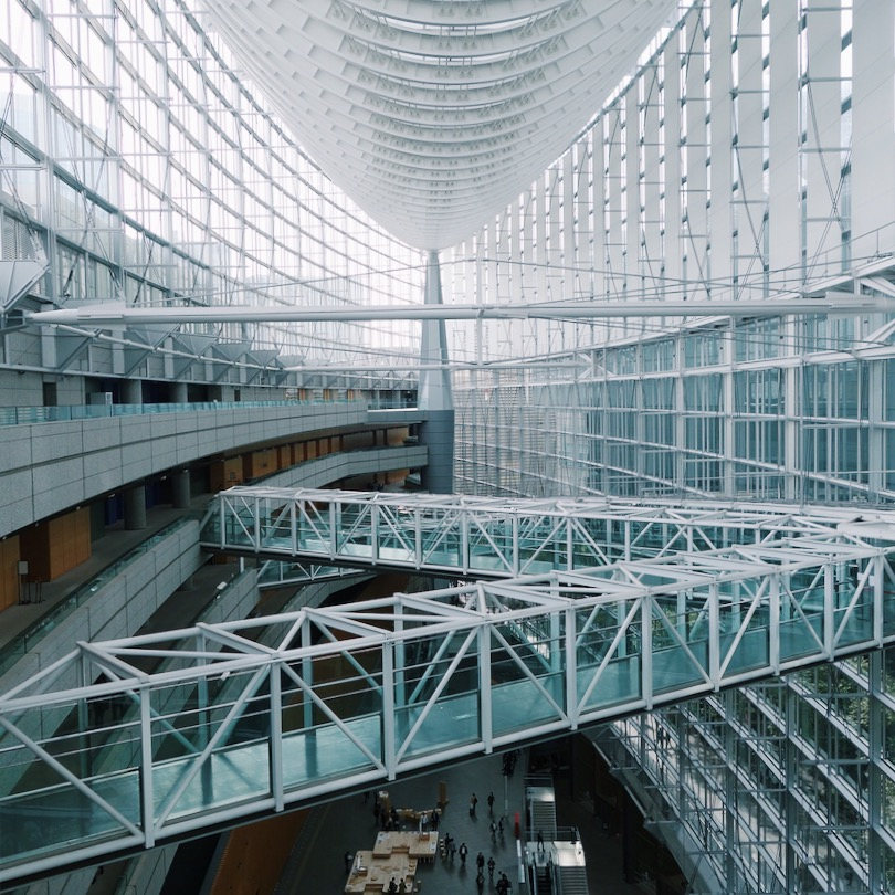 The inside of Tokyo International Forum
