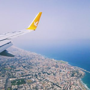 View of Tel Aviv from a plane