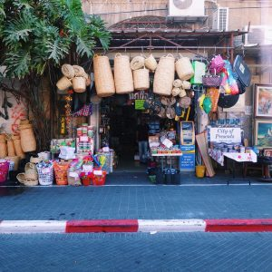 Shop selling baskets and souvenirs